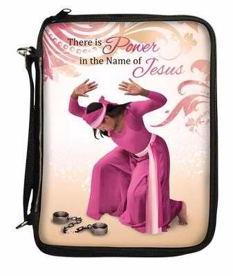 """Office Products : African American Expressions - Power in the Name of Jesus/ Broken Chains Bible/ Book Organizer (8"""" x 11"""", Removable shoulder strap included) BO-129"""