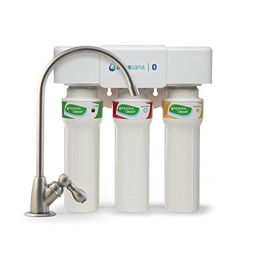 Aquasana 3-Stage Max Flow Under Sink Water Filter System with Brushed Nickel Faucet