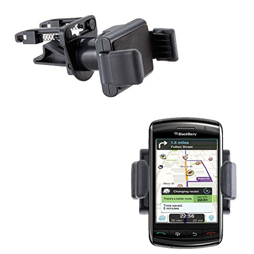 Innovative Ultra Compact Mini Vent Cradle Vehicle Mount designed for the Blackberry 9550 9530 9520 9570 - Adjustable Vent Clip Holder