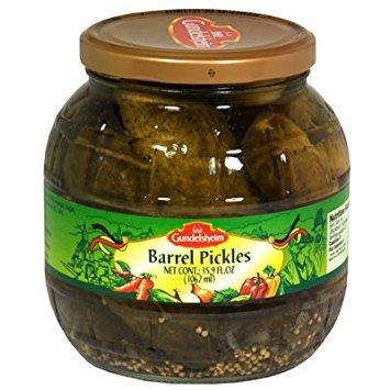 Barrel Pickles - Gundelsheim Barrel Pickles 35.9 Oz (Pack of 6)