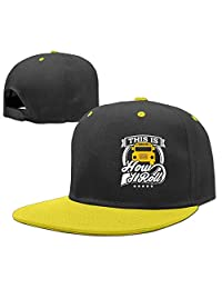 Hip Hop Baseball Caps Adjustable Hat School Bus This is How I Roll Boy-Girl