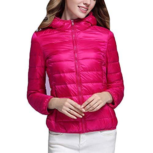 Down Hooded Jacket LaoZanA Pink1 Packable Coats Women's Lightweight OEwwqxt15
