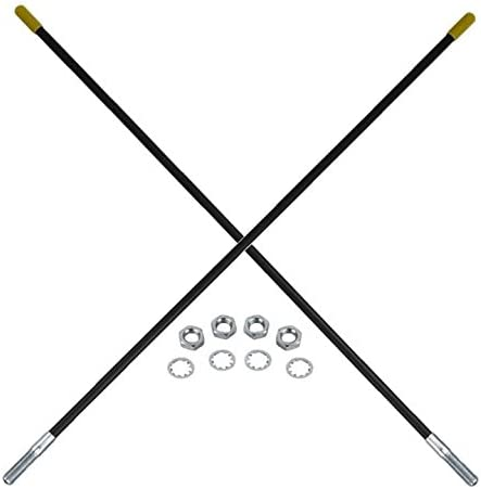NEW 22 INCH BLACK SNOW PLOW BLADE GUIDE KIT MARKER FITS FISHER SNOW PLOW APPLICATIONS 7906K A5108