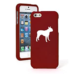 """Apple iPhone 6 Plus (5.5"""") Snap On 2 Piece Rubber Hard Case Cover Boston Terrier (Red)"""