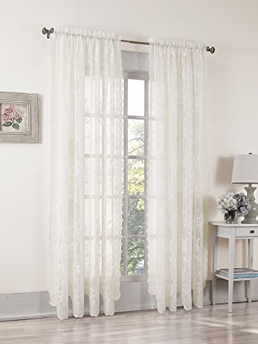 picture of S. Lichtenberg Alison 58 by 84-Inch Curtain Panel, Ivory