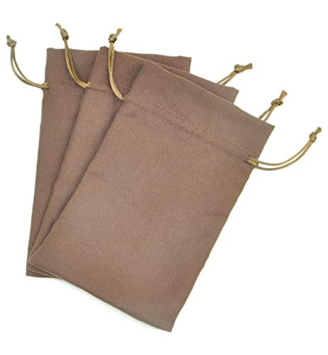 (Fantasy Life Suede Fabric Drawstring Bag Small Drawstring Gift Bags Carrying Storage Pouch Wrap for Gift Phone Protection of Power Bank ps Vita Video Audio Players-3pcs)
