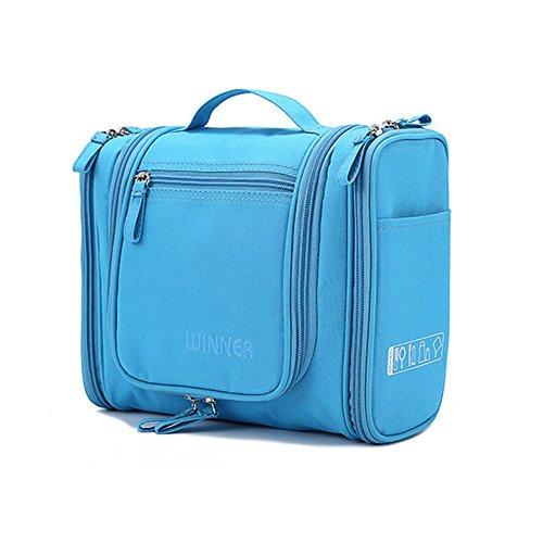 FunYoung Waschtasche Kulturbeutel Kostmetiktasche für unterwegs Farbwahl (Blau)