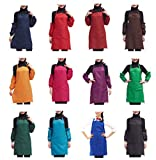 Abizoe 12 PCS Plain Color Bib Apron Adult Women Unisex Durable Comfortable with Front Pocket Washable For Cooking Baking Kitchen Restaurant crafting