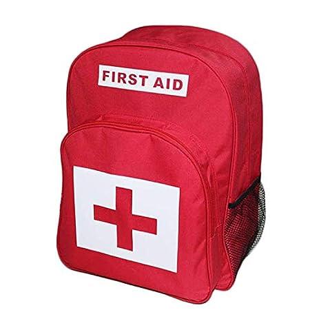 AIURBAG Rojo Mochila para Botiquines De Primeros Auxilios Paquete Emergencia Tratamiento Y Senderismo, Camping, Viajes: Amazon.es: Deportes y aire libre