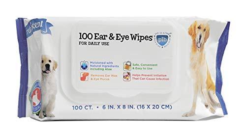PET IN A BAG Dog Eye & Ear Wipes - 100 Pack Dog Cleaning Wipes for Dog Bath - Safe Eye Wipes for Dogs and Effective Dog Ear Wipes