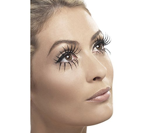 Women's Sexy Gothic Manor Ghost Bride Fake False Eyelashes Costume Accessory]()