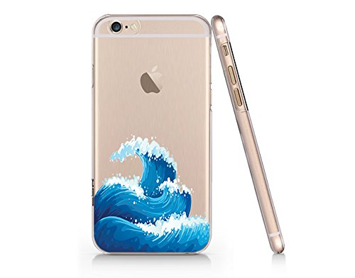 best sneakers 81d37 d8702 Amazon.com: Sea Waves Clear Transparent Plastic Phone Case for ...