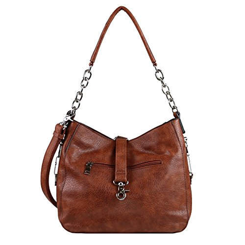 Hobo by Concealed Carry Concealed Gun YKK Conceal Carry Chain Lady Mahogany Locking Ashley Purse nwRRq1zT