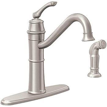Moen 87999srs 1h Srs Kt Faucet W Spray Amazon Com