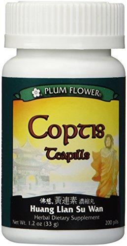 Coptis Teapills (Huang Lian Su Wan), 200 ct, Plum Flower