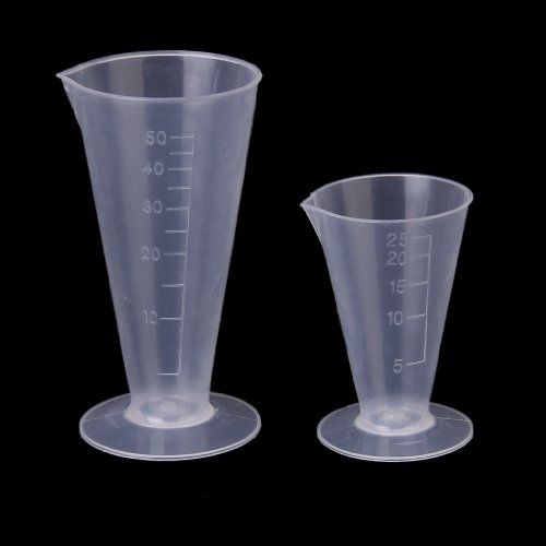 Gain 50ml Kitchen Laboratory Plastic Measurement Beaker Measuring Cup compare