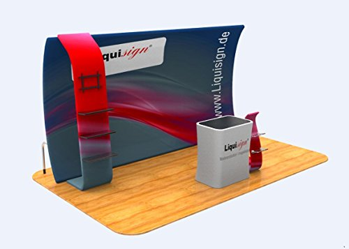Display backdrop tension fabric 10' with your customed Dye Sublimation printed graphic for event trade show & - Tension Display 10' Fabric