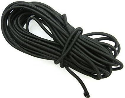 Cuerda elástica de 5 metros de largo y 3 mm de diámetro, color negro