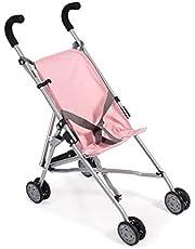 Bayer Chic 2000 601 15 mini roma, dockvagn, dockbuggy, melange grå-rosa