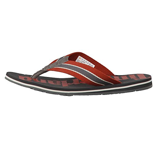 Timberland Men's Wild Dunes Fabic and Leather Flip Flops Forged Iron mMJGLRj