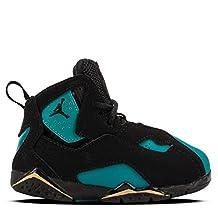 JORDAN TRUE FLIGHT GT girls basketball-shoes 645071-014_10C - BLACK/BLACK-RIO TEAL-METALLIC GOLD