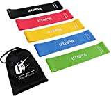 Utopia Fitness Resistance Bands Exercise Loops – Pack of 5, 5 Levels, Workout Bands for Toning Muscles, Home Fitness, Stretching, Physical Therapy, Weightlifting, Strength Training, Yoga For Sale