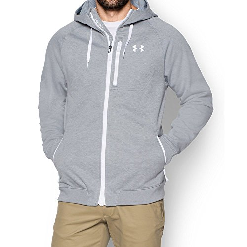 Under Armour Men's UA CGI Dodson Softshell, True Gray Heather (025)/White, X-Large ()
