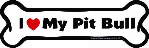 Imagine This Bone Car Magnet, I Love My Pit Bull, 2-Inch by - Big Pit Bulls