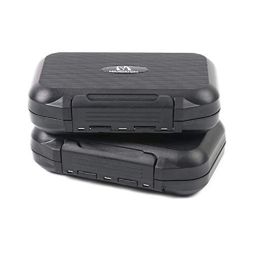 M MAXIMUMCATCH Maxcatch OR Fly Box Waterproof Portable Design Fly Fishing Box Flies Case(Easy Grip, Slit Foam) (2PCS Easy Grip ()