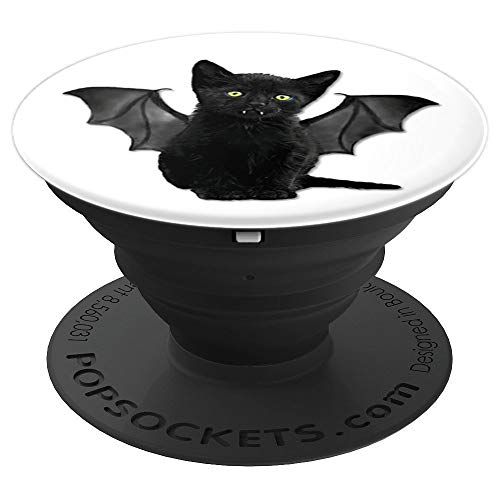 Batcat Funny Halloween Popsocket BOO! - PopSockets Grip and Stand for Phones and Tablets]()