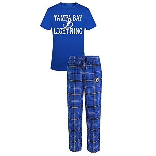 Concepts Sport Tampa Bay Lightning Men's Pajama Set Dup Sleep Set (X-Large)