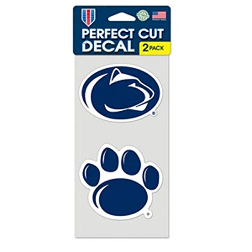 "WinCraft NCAA Penn State University Perfect Cut Decal (Set of 2), 4"" x 4"""