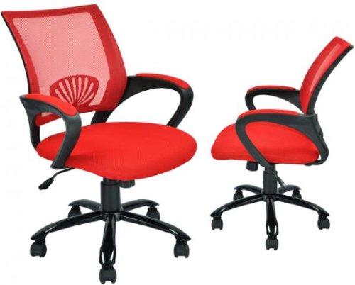 Sets of 2 Ergonomic Mesh Computer Office Desk Task Chair w/M