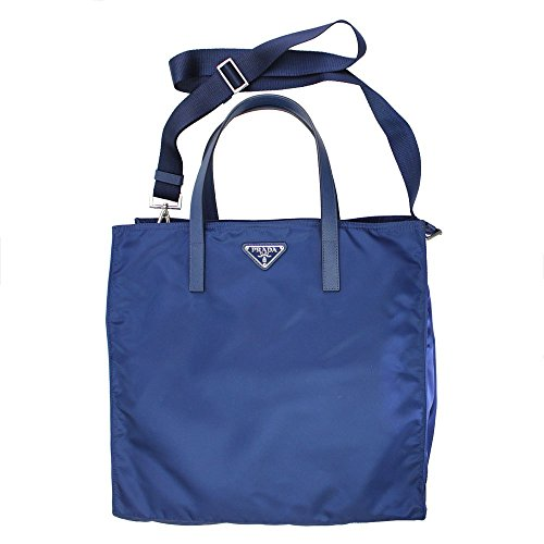 a8919d111d64 ... greece prada blue nylon tote bag with shoulder strap bn2841 amazon  shoes handbags b7b86 afa78