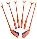 ArcMate Qwik-Pik Economy Trash Pick Up Tool, Outdoor Reacher Grabber Litter Picker, Jaws Open 3.5'', Rotates 360 Degrees, For Volunteers, 1 lb. Pick Up Capacity, Orange, 31'', 6-Pack (15615)