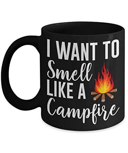 I Want To Smell Like A Campfire Speckled Enamel Camper Mug, Camper Coffee Mug, Camping Gear, Camping Coffee Mug 11Oz 15Oz ()