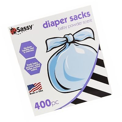 Sassy Disposable Scented Diaper Sacks 400 ct by Sassy