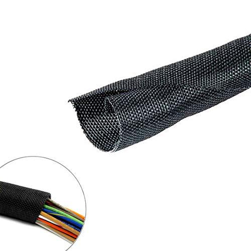 (Woven Mesh Split-Sleeve Wire Loom 25 feet - 1/4