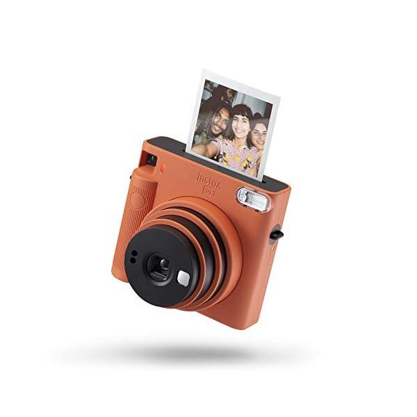 RetinaPix Fujifilm Instax Square SQ1 Camera - Terracotta Orange with Film Box