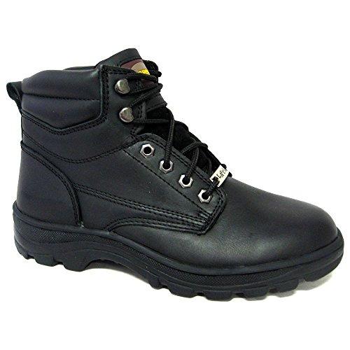 Botas De Trabajo Con Cordones Negros La Vega Para Hombre 6514 Negras