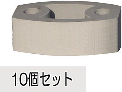ブロック 磁気質無釉ブロック セラミックスクリーンBライトグレー 10個セット単位 屋外壁 緩衝ゴム2個付