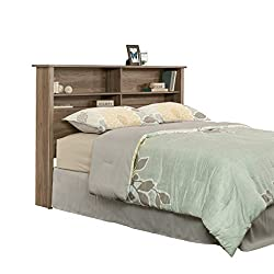 Sauder 419321 Headboard, Bed Room Bookcase Heaboard, Full/Queen, Salt Oak