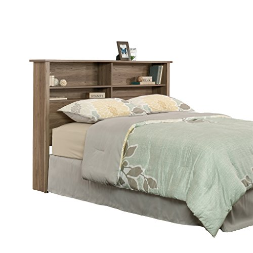 Sauder 419321 County Line Full/Queen Bookcase Headboard, Salt Oak Finish (Low Oak Bookcase)