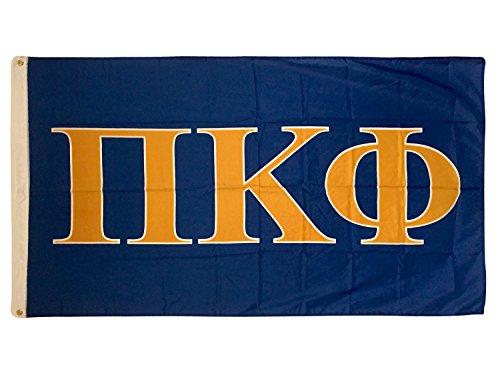 Pi Kappa Phi Letter Fraternity Flag Greek Letter Use as a Banner Large 3 x 5 Feet Sign Decor Pi Kapp