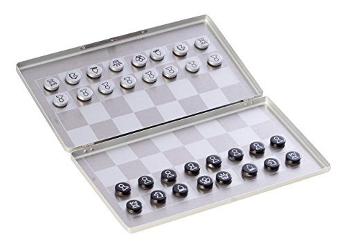 Bey-Berk AJ-G503 Magnetic Chess Set in Brushed Stainless Steel Case, - Stainless Set Chess Steel