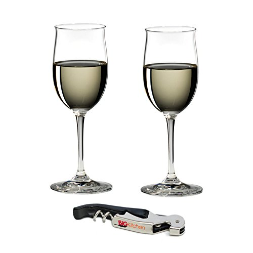 Riedel Vinum Leaded Crystal Rheingau/Riesling 2 Piece Wine Glass Set with Bonus BigKitchen Waiter's Corkscrew