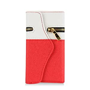 Gadgetsevil Travel Wristlet Wallet Clutch Bag Pouch Case Cover for iPhone 5 / 5s (Red/White)