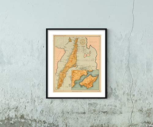 1899 Map|No. 22. Cebu|Vintage Fine Art Reproduction|Size: 20x24|Ready to Frame ()