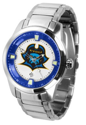 (SunTime East Tennessee State Buccaneers Titan Steel Watch)