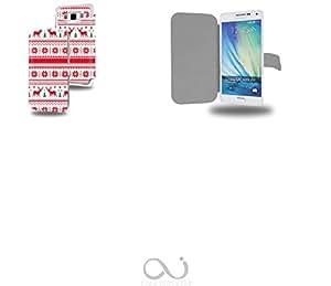 Christmas Pattern Collection Pattern Funda de Cuero para Samsung Galaxy A5 Flip Case Cover (Estuche) PU Cuero - Accesorios Case Industry Protector